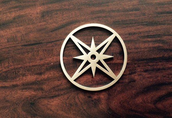 Compass Laser Cut Metal Signs by Germantown Tool Artisan Metal