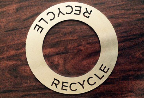 Recycle Sign Metal Signs by Germantown Tool Artisan Metal