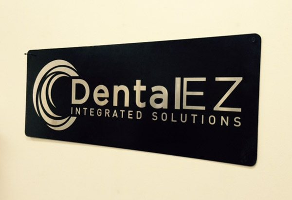 DentalEZ Laser Cut Signs by GTM Artisan Metal