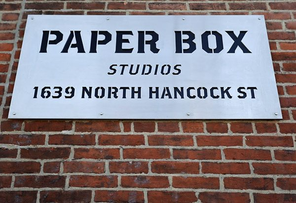 Laser Cut Signs for Paper Box Studios by GTM Artisan Metal