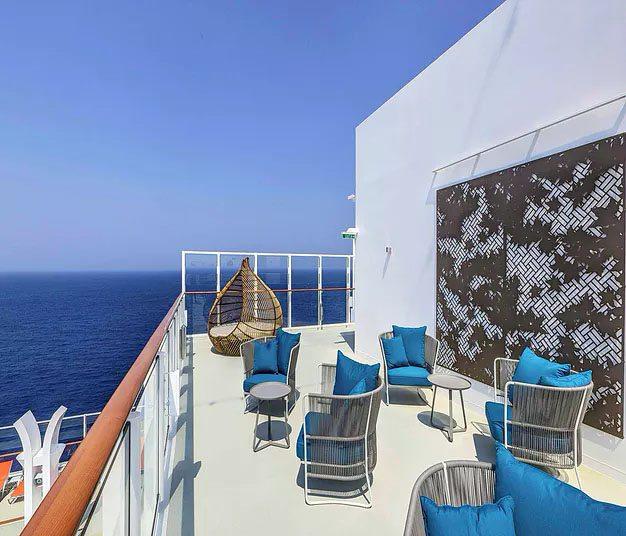 Dream Cruises - Viewing deck. Laser cut screens - Acer design.