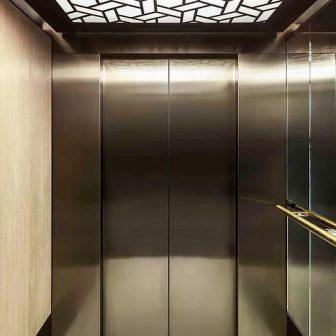 Linton House - London. Backlit elevator ceiling panels.