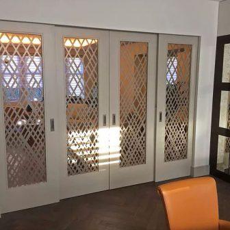 Sliding doors - Weave design. Private client - London.