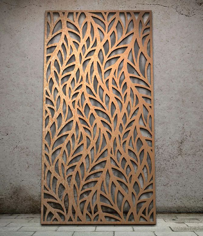 Frond Laser Cut Metal Panel Design By Miles And Lincoln