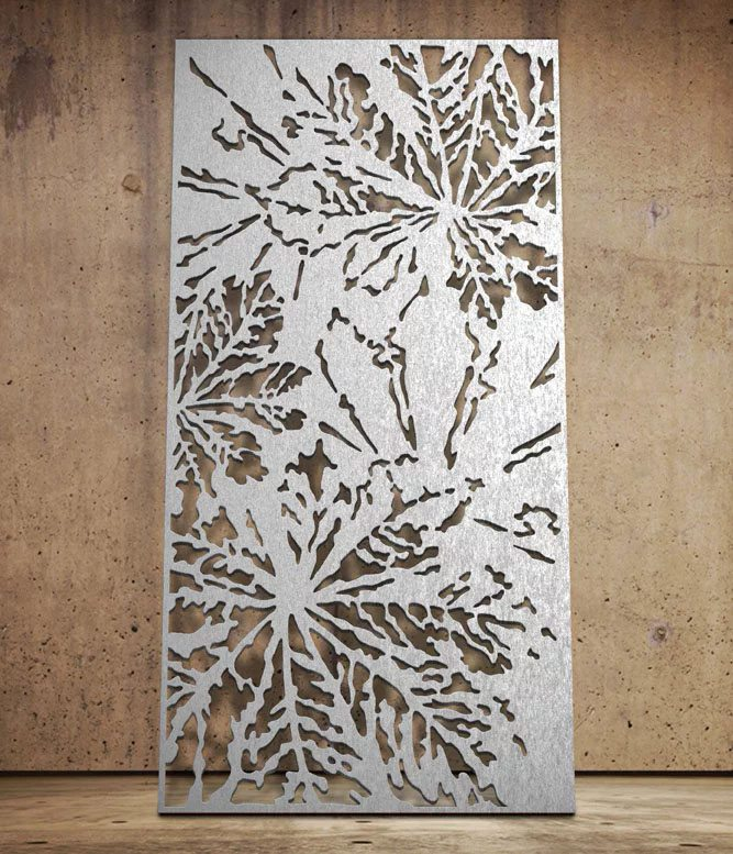 Chestnut Laser Cut Metal Panel Design By Miles And Lincoln