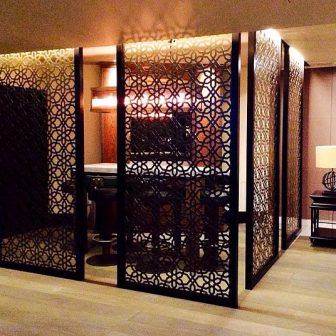 Private client - London. Laser cut screens - Cellar cocktail and wine bar