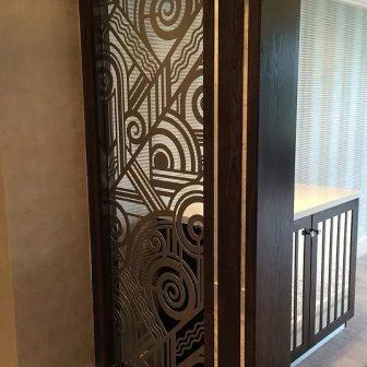 Bovey Castle Hotel and Spa - Devon. Laser cut screen - art deco design