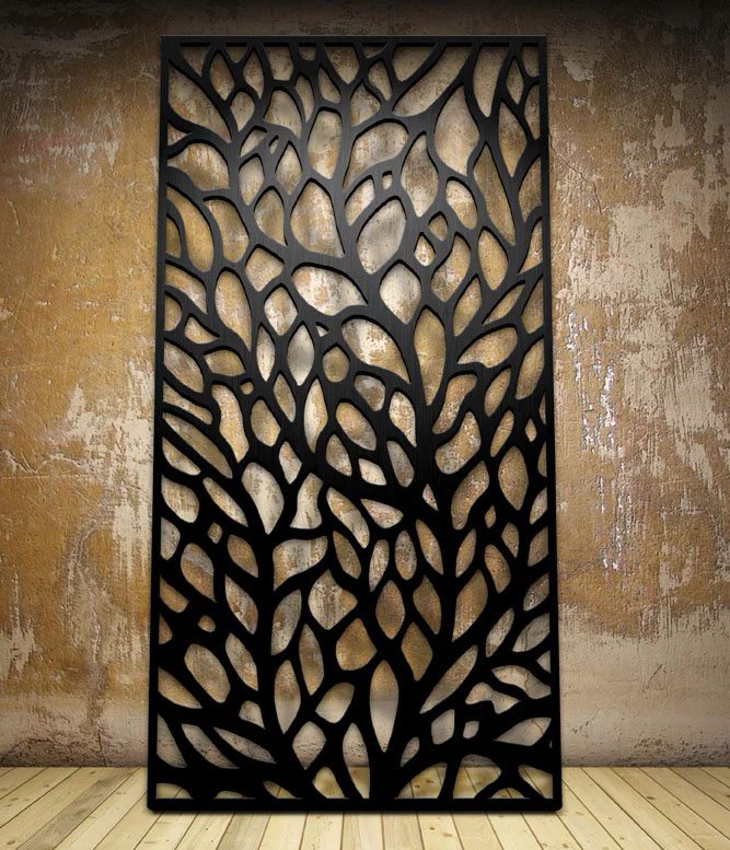 Autumn Laser Cut Metal Panel Design By Miles And Lincoln