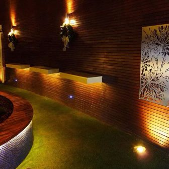 Limerick Strand Hotel - Ireland. Laser cut screens - stainless steel. Chestnut design.