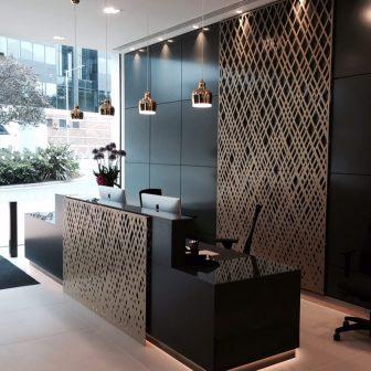 Aberdeen Asset Management - Reception. Uxbridge - London. Weave design.