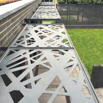 Brise Soleil - Crosshatch. Private client - Surrey