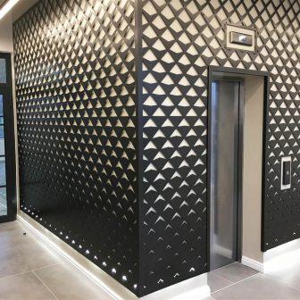 Laser Cut Panels - Quilt Design in Dark Bronze