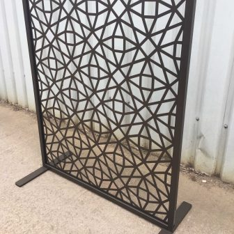 Laser Cut Screens in Freestanding Frame provided by Miles & Lincoln