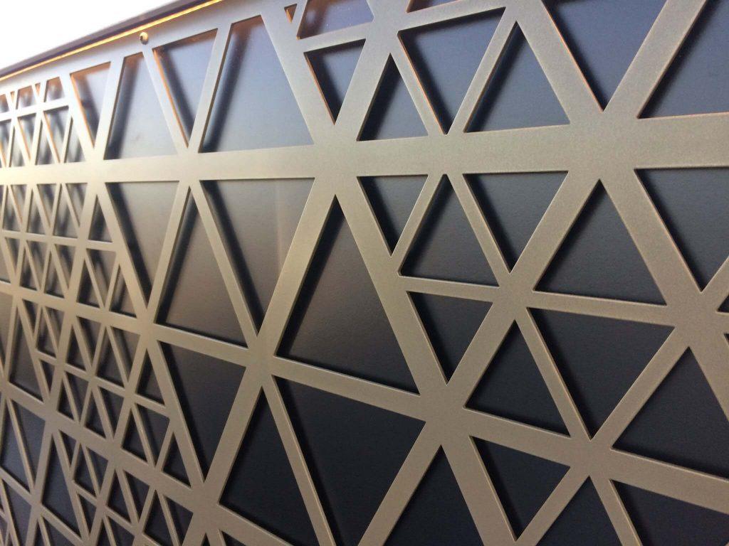 Decorative Metal Panels, Gherkin Design in Bronze M1000