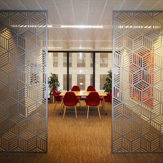 Laser Cut Panels - Blocks Design in Silver