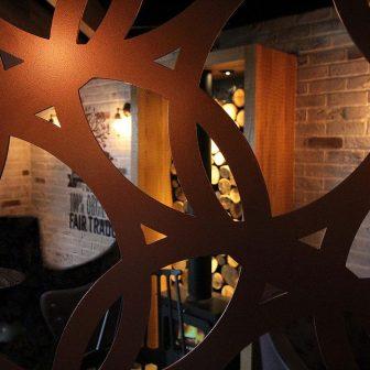 Laser Cut Screen - Circles Design in Copper
