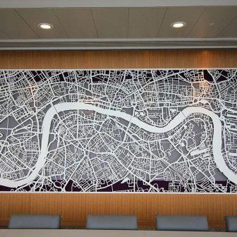 Laser Cut Metal Map of London